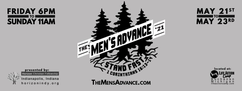 Men's Advance May 21st-23rd!